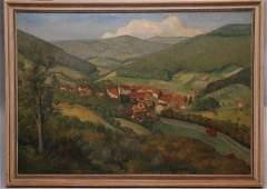 53: Paul Kalberer (1896-1974) oil on canvas, farm lands
