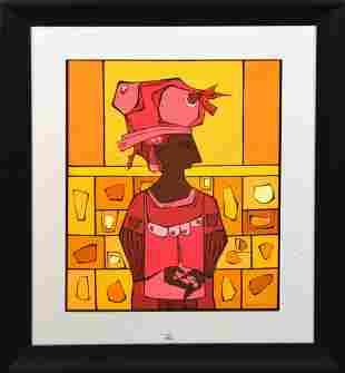 Cundo Bermúdez (CUBAN, 1914–2008) gouache on paper,