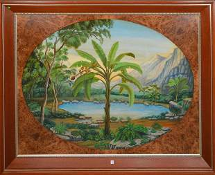 Cuban School 20th Century, Unattributed, Oil on panel,