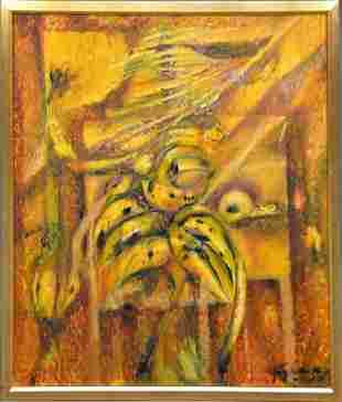 AGUSTIN FERNANDEZ (Cuban 1928-2006) Oil on canvas,