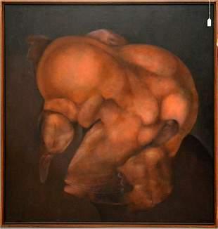 Rafael Sorinao (Cuban b. 1920) Oil on canvas, Memoria