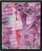 Byron Galvez (Mexico 1941 - 2009) Oil on Canvas,