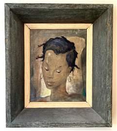 Angel Botello ( Puerto Rico 1913 - 1986) oil Portrait