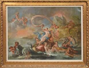 Charles-Antoine Coypel (France 1694 - 1752) oil on