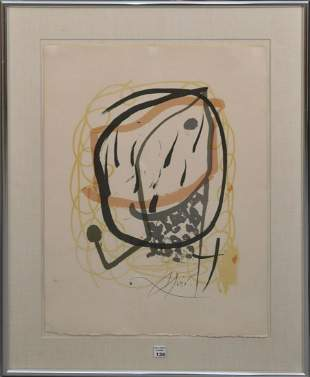 After Miro Lithographic Print- Signed within the print.