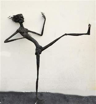20th Century Modern Bronze figural sculpture No