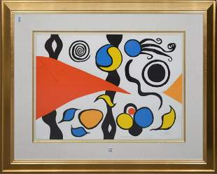 20th Century Lithograph in colors- Calder Variations