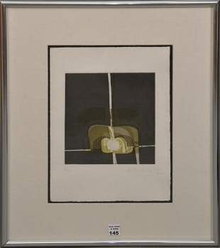 20th Century Lithograph in colors, Untitled -1982.