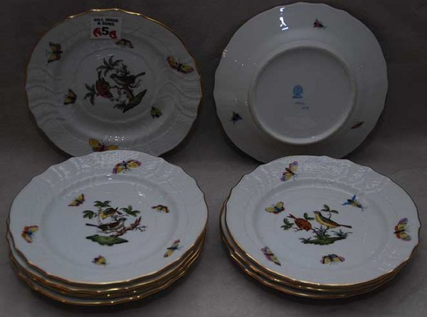 5: 9 Herend plates, 6""