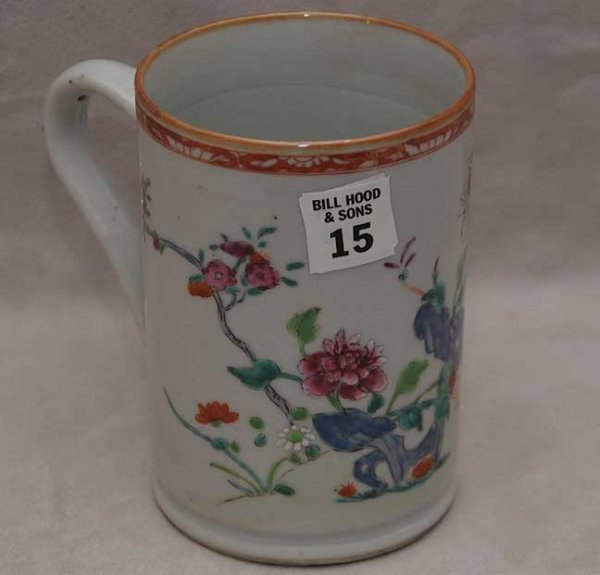 "15: Chinese export tankard, 5 1/2""h"