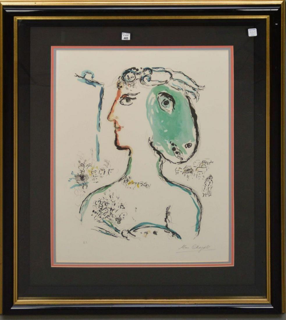 "Marc Chagall, ""Artist Phoenix"" Limited Edition"