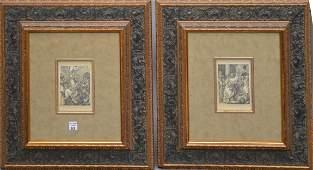 2 Antique Engravings: Albrecht Dürer (GERMAN,