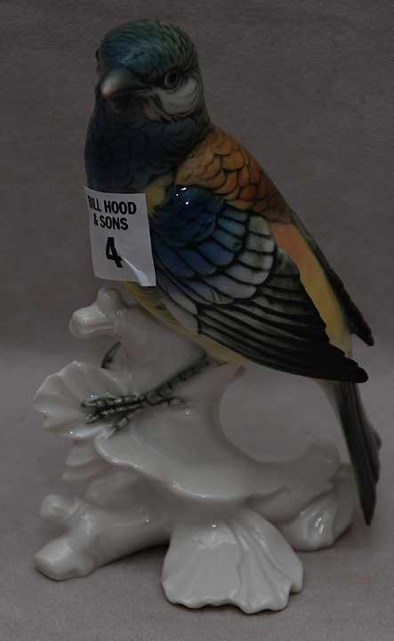 "4: Porcelain bird ""Germany"" 6 1/4""h"