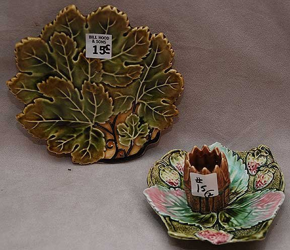 15: 2pcs majolica incl; multi color candle holder ( 2 c