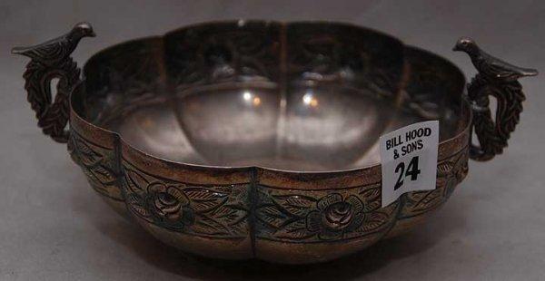 "24: Mexican sterling 925 bowl, 8oz, 3""h x 7 1/2""L"