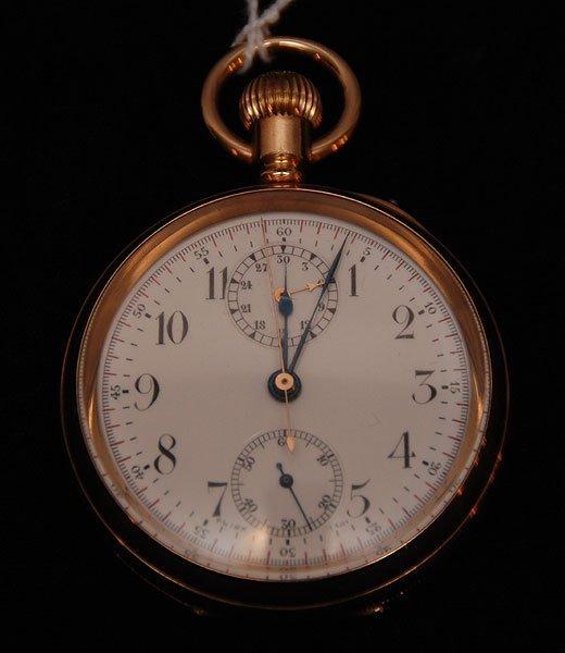 267: Men's pocket watch, Girard Peugot, 14kt