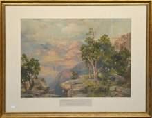THOMAS MORAN - GRAND CANYON OF ARIZONA. Thomas Moran