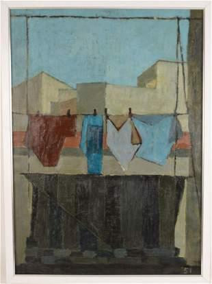 Giuseppe Guerreschi (Italian 1929 - 1985) oil canvas,