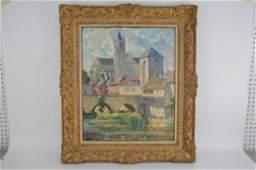 Pierre De Belay (France 1890 - 1947) oil Paris Seine