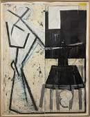 Richard Beckett (American 20th Century) Large Abstract,