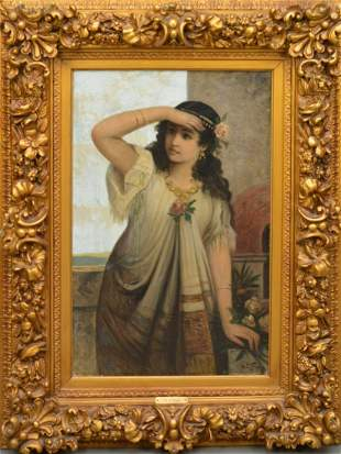 Antique oil Painting by O.L. Friese?  19th Centruy,