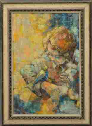2 oil paintings- Irving Rosenzweig oil painting on