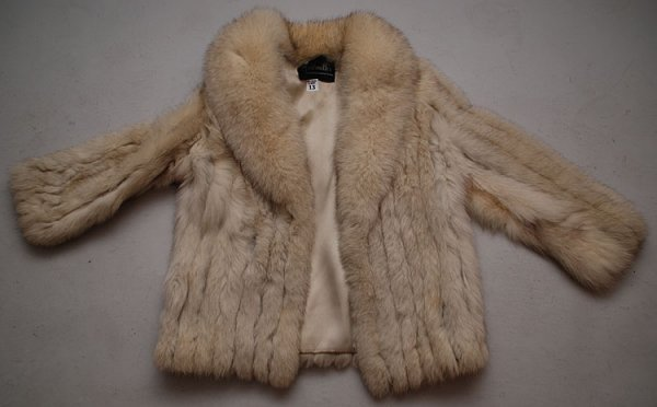 "13: Fur coat, ""Goldsmith's, Memphis' Greatest Store"", a"