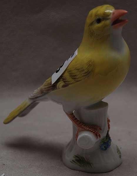 """23: Meissen porcelain bird, 4""""h x 3 1/2""""L"""