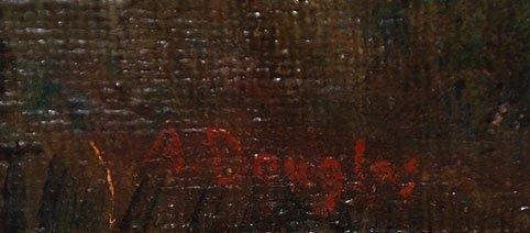 129: Aaron Douglas (AMERICAN, 1899-1979) oil on canvas, - 2