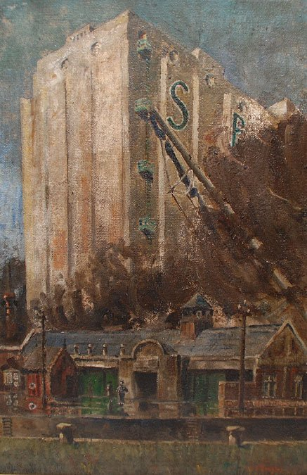 129: Aaron Douglas (AMERICAN, 1899-1979) oil on canvas, - 3