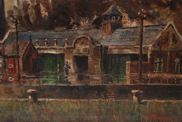 129: Aaron Douglas (AMERICAN, 1899-1979) oil on canvas, - 4