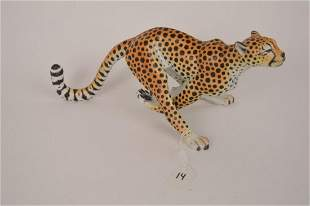 Herend Porcelain Cheetah. This Cheetah was hand-painted