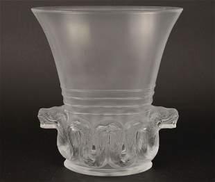 LALIQUE CRYSTAL QUETZALCOATL AZTEC VASE - Lalique