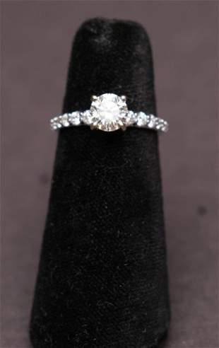 1.18 ct. (Center Stone) and 14 KT White Gold Diamond