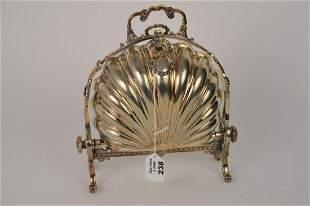 """English Silverplate Victorian Bun Warmer, 10 1/2""""h"""