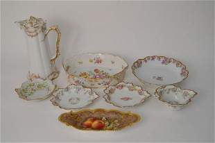 Assorted Lot of china, Haviland, 6 Royal Worcester
