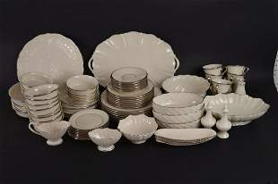 "Lenox ""Solitaire"" china service, incl; 8 Dinner Plates,"