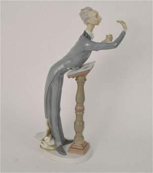 "Lladro Porcelain Figure, Conductor, 15 1/2""h"