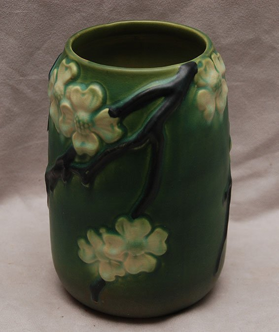 11: Unsigned art pottery vase with matte finish and blo