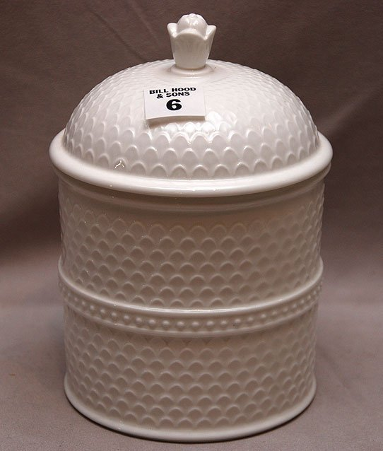 "6: Minton covered jar, 7 1/4""h OA2212"