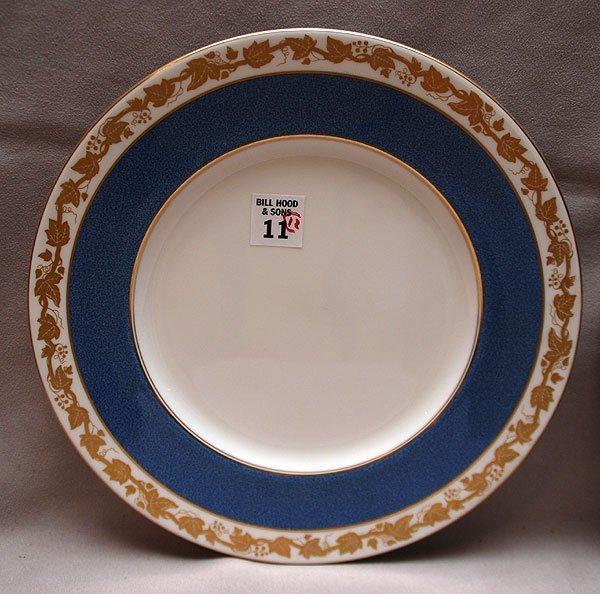 """11: 12 dinner plates, Wedgwood, 10 1/2"""""""