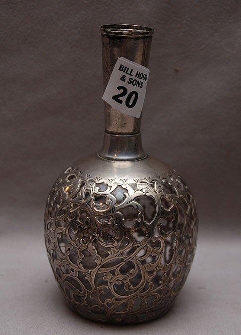 "20: Silver bud vase, 6""h"