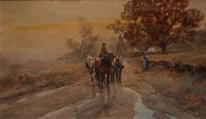 149 FRANK F ENGLISH American 18541922 Wagon On A