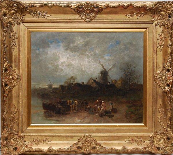 136: Désiré Thomassin (AUSTRIAN, 1858-1933) oil on canv