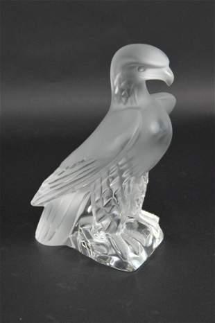 LALIQUE CRYSTAL LIBERTY EAGLE FIGURE - Lalique France