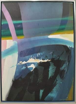 Syd Solomon (American 1917-2004) Acrylic on Canvas,