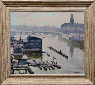 Attributed to: Albert Marquet (France). oil Painting