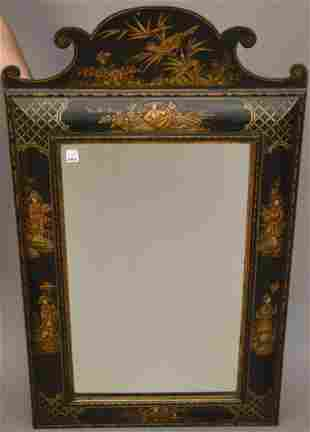 19th Century English Chinoiserie Mirror Oriental motif,