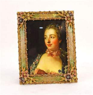 JAY STRONGWATER TWIG & FLOWER PICTURE FRAME - Gold-tone