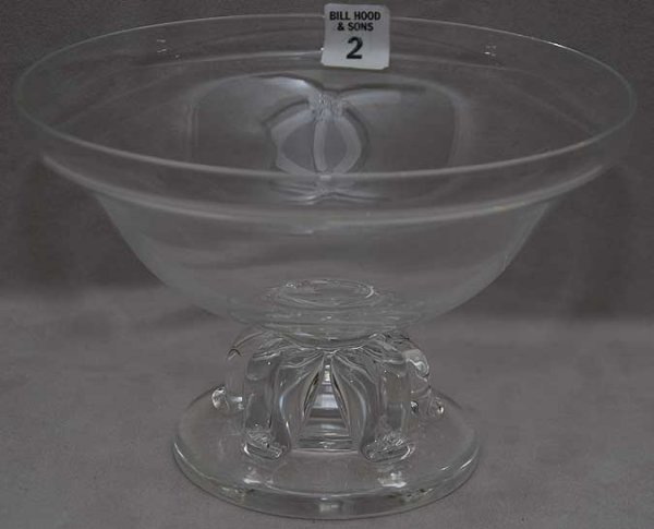 "2: Steuben crystal bowl, 8 1/4""dia"